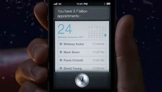 Ο Stanta Claus χρησιμοποιεί iPhone 4S και Siri