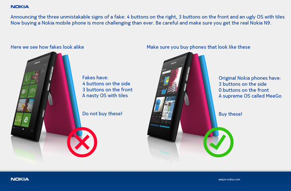 Η Nokia προειδοποιεί, Πείτε όχι στα μοχθηρά Windows Phone κινητά! [funny]
