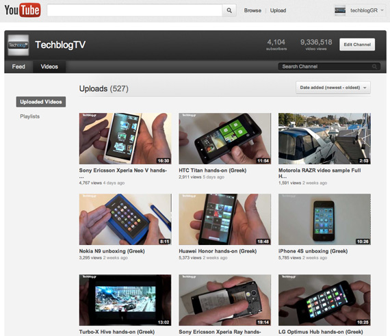 TechblogTV, Το μεγαλύτερο ανεξάρτητο κανάλι με ελληνικά hands-on video