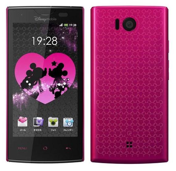 Disney Mobile DM012SH, Αδιάβροχο smartphone με Android και τον Mickey