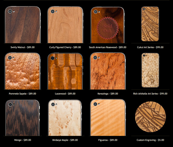 Material6, Χειροπόιητες ξύλινες πλάτες για το iPhone