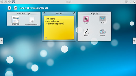 Spark tablet, Μια πρώτη γεύση από το Linux based λειτουργικό Plasma Active