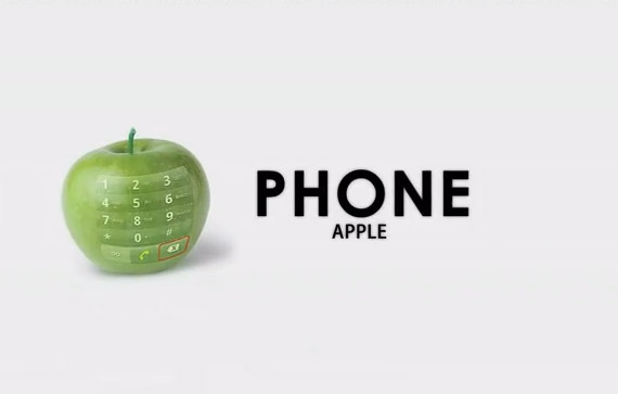 Real Apple Phone, iOS πάνω σε ένα πράσινο μήλο!