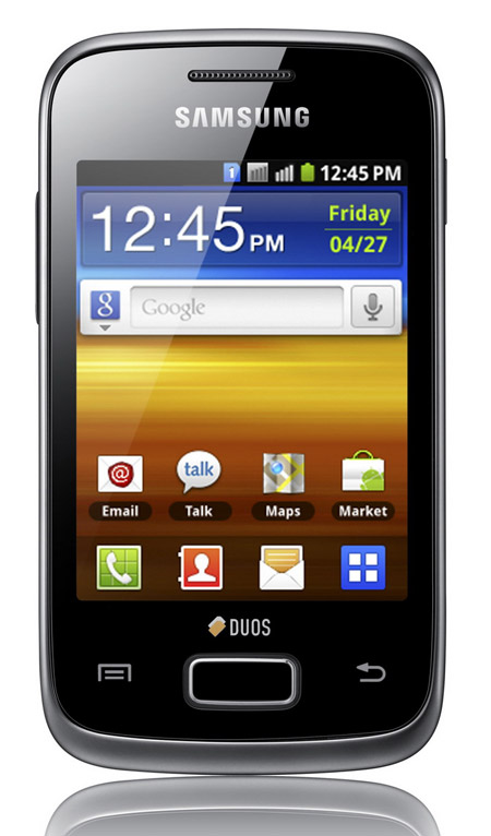 Samsung Galaxy Y Duos, Με οθόνη αφής και δύο κάρτες SIM