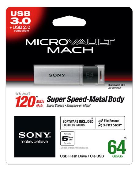 Sony Micro Vault MACH, Super Speed USB 3.0 Flash Drive
