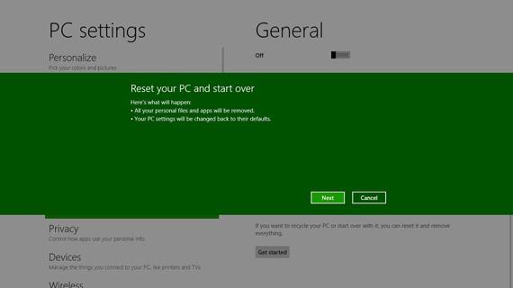Windows 8 Reset και Refresh επιλογές, Κάντο όπως στο κινητό