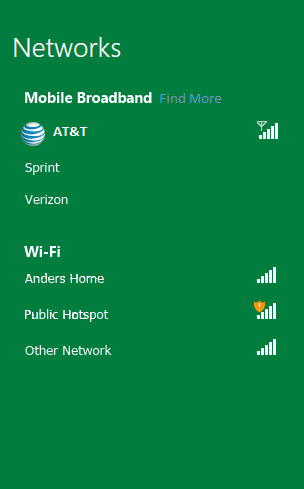 Windows 8 mobile broadband, Κάντο όπως στα smartphones