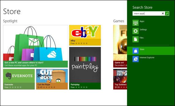 Windows 8 Store, Screenshots και βίντεο