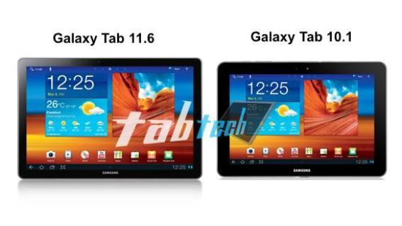Samsung Galaxy Tab με οθόνη 11,6 ιντσών και dual core CPU 2GHz [φήμη]