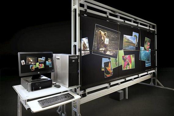 HP VantagePoint, Interactive οθόνη αφής 132 ιντσών ανάλυσης 4098x1536 pixels