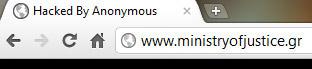 Επίθεση από τους Anonymous Ελλάδας και Κύπρου στην ιστοσελίδα του υπουργείου Δικαιοσύνης