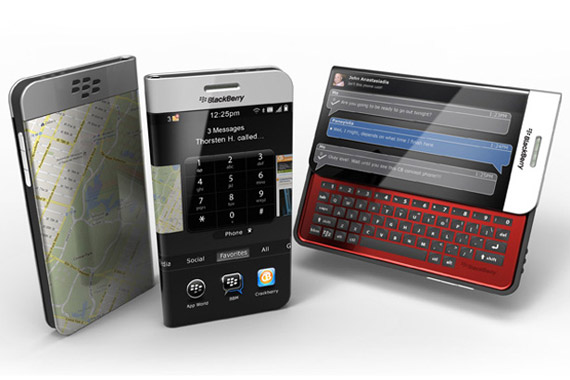 BlackBerry concept, Με έυκαμπτη και διάφανη οθόνη [Έλληνας σχεδιαστής]