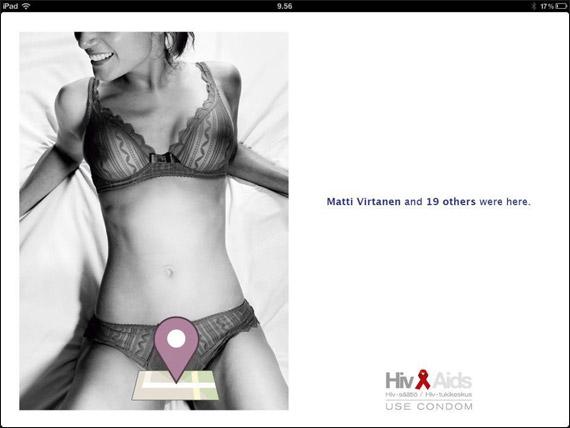 Διαφήμιση για το AIDS εμπνευσμένη από το Facebok Places