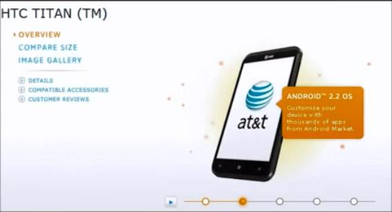 HTC Titan με Android 2.2 Froyo και οθόνη 3.8 ίντσες