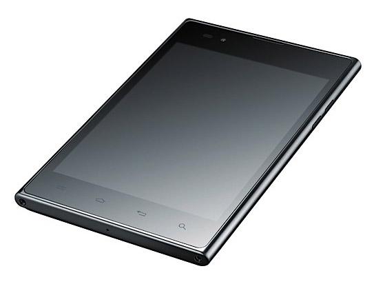 LG Optimus Vu, Με οθόνη 5 ιντσών 4:3 και πενάκι Rubberdium