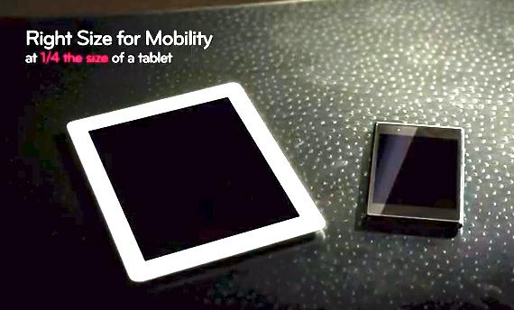 LG Optimus Vu, Η LG το παρουσιάζει ως mini tablet