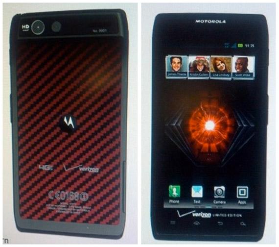 Motorola RAZR limited edition, Με κόκκινη-μαύρη πλάτη