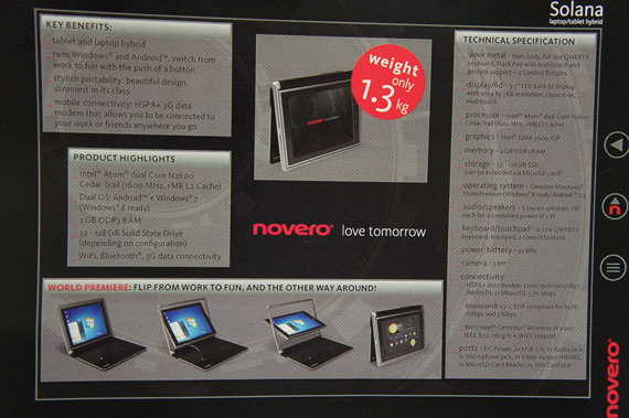 Novero Solana specifications