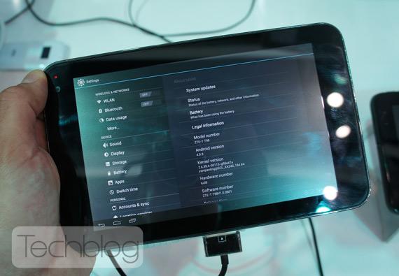 ZTE T98 Quad-core tablet ελληνικό βίντεο παρουσίαση [MWC 2012]