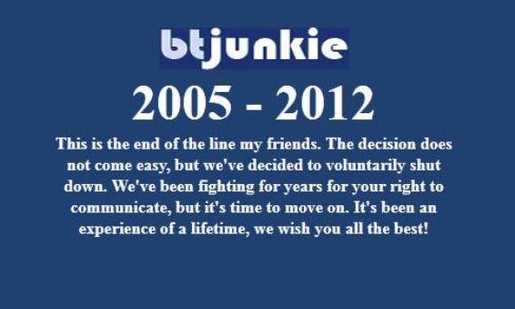 Το BTJunkie έκλεισε, άλλο ένα P2P site μας αποχαιρετά
