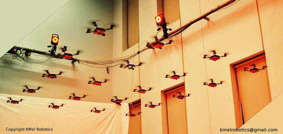 Nano Quadrotors, Αυτόνομα λιλιπούτεια ελικόπτερα πετούν σε σχηματισμoύς