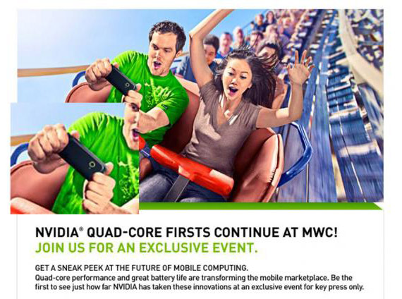 NVIDIA, Full on Quad-core στην έκθεση MWC 2012