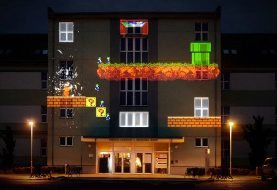 8-bit invader, Απίθανο retro gaming πάνω στην πρόσοψη κτηρίου