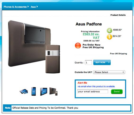 ASUS Padfone, 7 κατοστάρικα κινητό και tablet [keyboard not included]