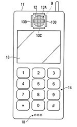 BlackBerry, Παντέντα με αισθητήρα που αντιλαμβάνεται την απόσταση του κινητού από αυτί μας