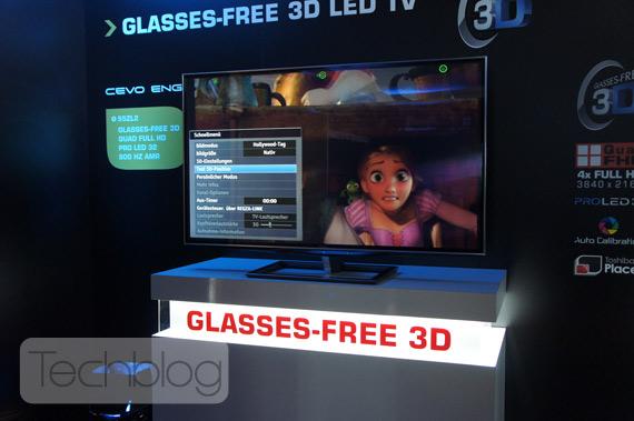 Toshiba 55ZL2, Τηλεόραση 55 ιντσών για 3D χωρίς γυαλιά