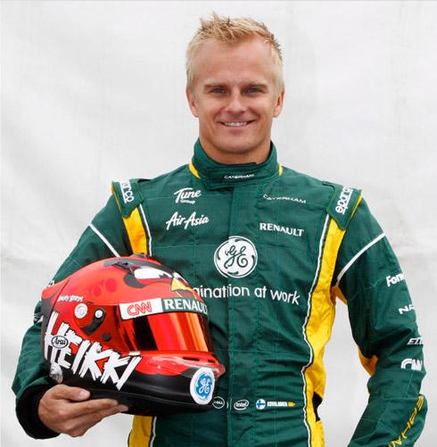 Heikki Kovalainen, Θα τρέχει στη Formula 1 με κράνος Angry Birds