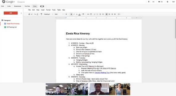 Το Google Docs ενσωματώνεται στο Google+ Hangouts