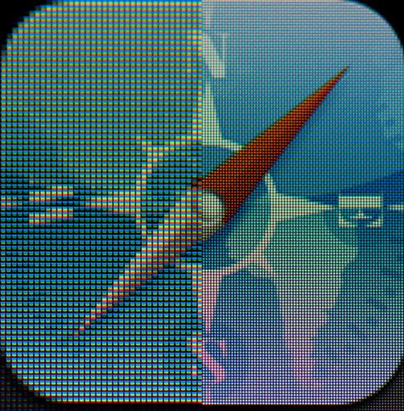 Νέο iPad, Συγκρίσεις της Retina οθόνης με την οθόνη του iPad 2