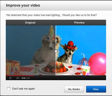 YouTube, Ρετουσάρισμα των videos με ένα απλό κλικ