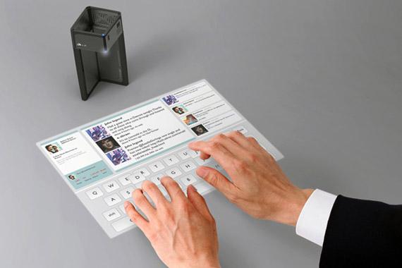 UFO concept smartphone, Με εύκαμπτη οθόνη αφής