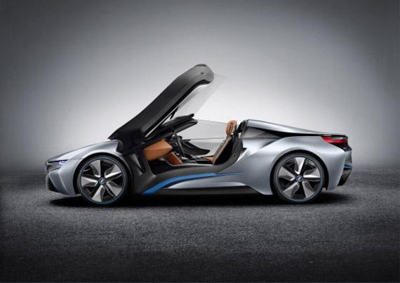 BMW i8 Concept Spyder, Ένα τετράτροχο cabrio γλυπτό στους δρόμους