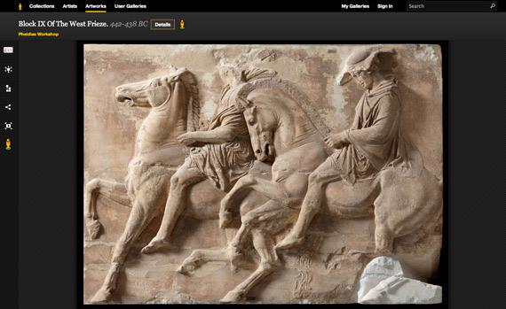 Google Art Project, Έργα τέχνης από τα μουσεία Ακρόπολης, Μπενάκη και Κυκλαδικής Τέχνης