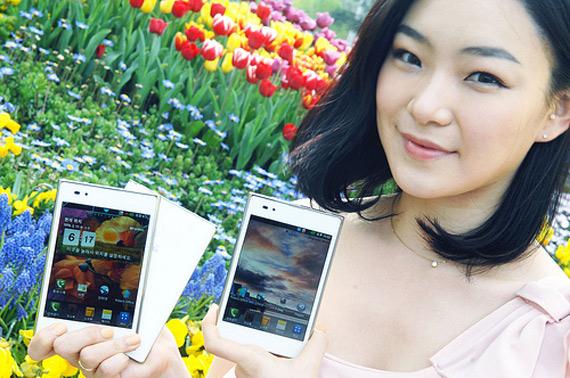 LG Optimus Vu, Κυκλοφόρησε στη Νότιο Κορέα σε λευκό χρώμα