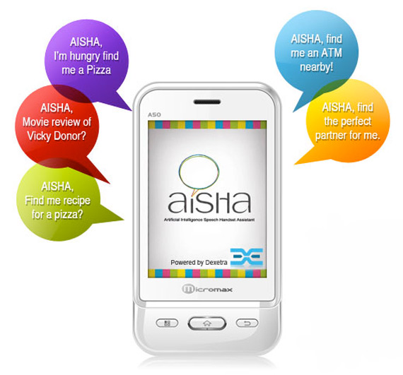 Micromax Aisha A50 Ninja, Το Siri σε Android