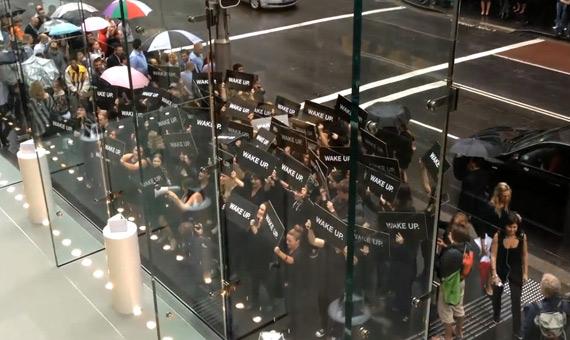 Samsung, Δεν έχουμε σχέση με τις διαδηλώσεις έξω από το Apple Store στην Αυστραλία