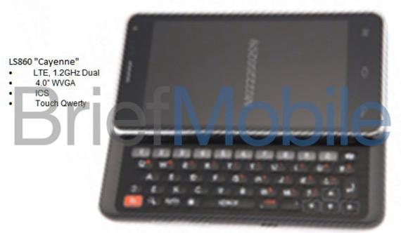 LG LS860 Cayenne, Με συρόμενος QWERTY πληκτρολόγιο και ICS;