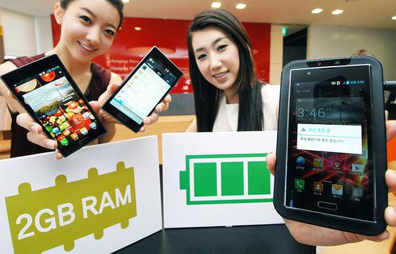 LG Optimus LTE2, Ανακοινώθηκε το πρώτο smartphone με 2GB μνήμη RAM