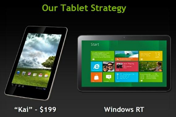 Nvidia Kai, Νέα πλατφόρμα για Android tablets με 199 δολάρια Αμερικής