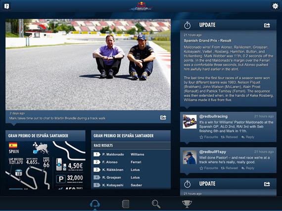 Red Bull Racing Spy, Νέα εφαρμογή για τη Formula 1 [iOS]