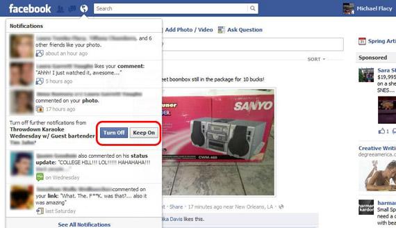 Facebook, Τώρα μπορείτε να απαλλαγείτε από τις ενοχλητικές ενημερώσεις