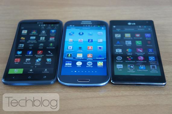 Συνάντηση γιγάντων, HTC One X - Samsung Galaxy S III - LG Optimus 4X HD