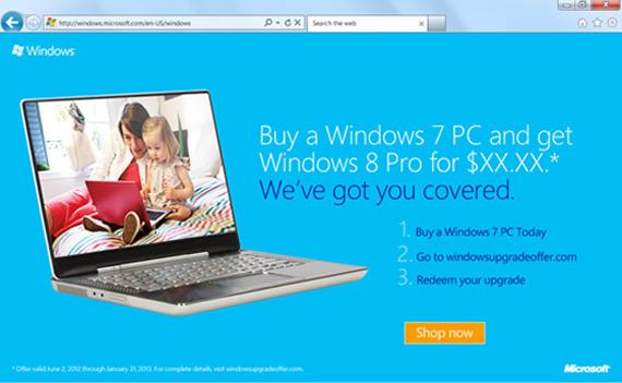 Windows 8, Αναβάθμιση από τα 7 στην έκδοση Pro με 15 δολάρια Αμερικής;