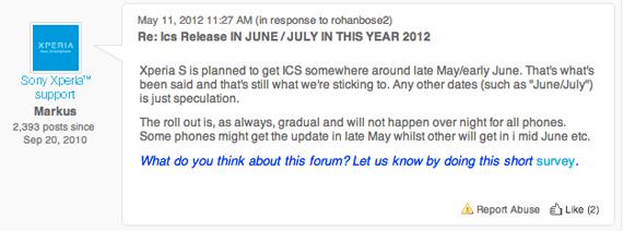 Sony Xperia S, Ψήνεται η αναβάθμιση σε ICS για Μάιο-Ιούνιο