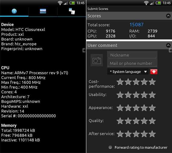 HTC One XXL, Με τετραπύρηνο Qualcomm S4 1.6GHz και δύο γίγα RAM!