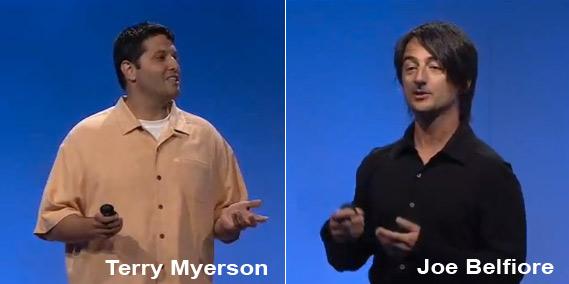 Terry Myerson και Joe Belfiore